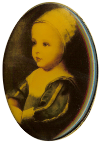 Brooch with painting of Baby Mary Stuart